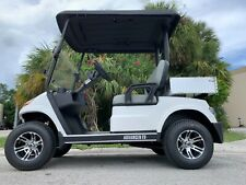 New listing  WHITE 2 PASSENGER UTILITY BED BOX GOLF CART FAST LUXURY 24 MPH CAR FAST AC MOTOR