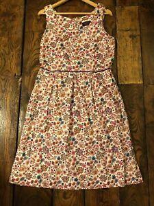 Allium B Liberty Bespoke  Tana Lawn  Autumn Floral Cottagecore Dress 16 14 12