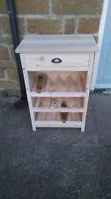 BESPOKE H88 W60 D39cm UNTREATED WINE RACK HALL STAND TABLE English oak Top