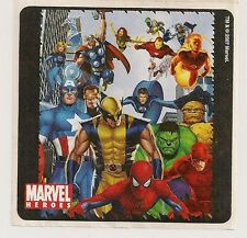 2007 MARVEL HEROES STICKER #3 AVENGERS FANTASTIC 4 DAREDEVIL X-MEN SPIDER-MAN