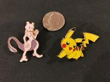 2 pin set-OFFICIAL POKEMON MEWTWO & PIKACHU  (both pins)  ONE LOW PRICE