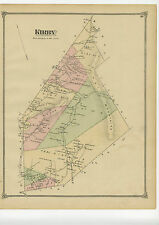 Rare 1875 Map of Kirby, Vermont from Beers Atlas of Caledonia County - original