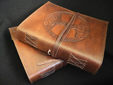 Tree of Life Pagan Wicca Handmade Leather Journal Book of Shadows Grimoire Diary