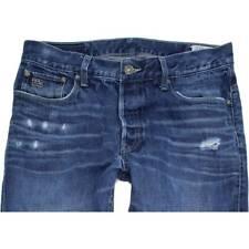 G-Star 3301 Men Blue Straight Regular Jeans W36 L32 (48293)