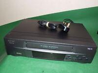 MATSUI VX1108 Video Cassette Recorder VHS Smart VCR Black FULLY TESTED