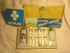 """vintage Grumbacher oil paint set """"Rub-Out Painting Starter set paints"""