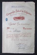 Portugal - Companhia Fabril de Salgueiros, 5 Shares, 1945 - *VERY RARE*