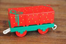 THOMAS TANK ENGINE CARRIAGES - TRACKMASTER FLATBED XMAS PRESENT CARGO - AS NEW