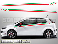 Fiat Punto side racing stripes 006 Italian flag decals vinyl graphics stickers