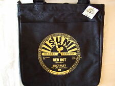 SUN RECORDS BILLY RILEY RED HOT TOTE BAG OFFICIALLY LICENSED - BLACK NWT