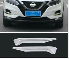 chrome Fit Nissan Rogue Sport Qashqai 2019-2020 Front Fog Lamp Trim Cover Strip