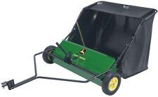 John Deere 42 In. Riding Mower Tractor Tow-Behind Lawn Brush Leaf Debris Sweeper