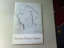 MAURICE MARINOT - DONATION DE FLORENCE MARINOT