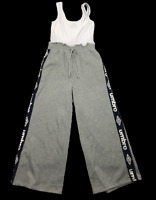 UMBRO by Factorie | Women's Wide Leg Jumpsuit | Grey White | Size: US 10, EUR 40