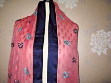Shawl /wrap - stole / embroidery/bead sheer  blue/pink chiffon