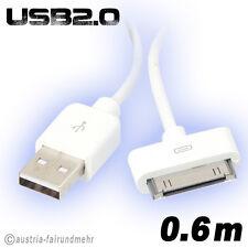 """iPhone iPod Lade-Kabel  USB2.0 30Pin 60cm weiß"