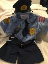 BABW POLICE CLOTHES GLASSES HAT TIE BUILD A BEAR TOY OFFICER  Blue Shirt Shorts