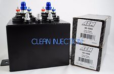 Dual AEM 50-1005 380LPH Fuel Pump 2jz 2jzgte surge tank hanger twin triple turbo