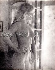 Totally Nude Blonde Model SEPIA HENDRICKSON PHOTO Original Artists Studio D346
