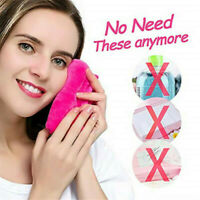 Reusable Eraser Makeup Remover Towels Make Up Cleaning Towel Fibre Cloth UK~