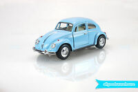 "1967 Volkswagen Classical Beetle 1:32 scale 5"" Die Cast hobby Blue model car"