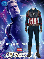 Avengers:Endgame4 Captain America Outfit Cosplay Costume Bodysuit Suit Halloween