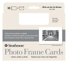 Strathmore Photoframe Cards White Pkg 10
