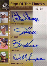 2012 SP Authentic Golf Sign Of The Times Quad Auto Haas,Strange,Simpson,Haas