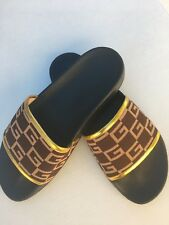 19a287561cfc85 Gucci Men s Canvas and Leather Slides Size G11