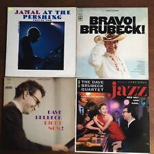 LOT Of 4 Jazz Record LPs - Brubeck Red Hot and Blue, Bravo!, Right Now!, Jamal