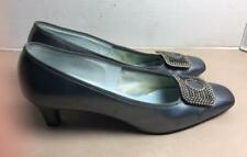 Vintage Town & Country Woman's Shoes Size 8 1/2 Gray Patent Leather Pumps Heels