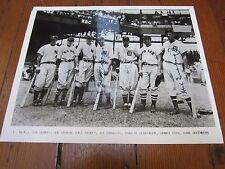 1937 American League All-Stars signed Photo Di Maggio Greenberg Dickey Cronin