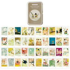 Illustrated Instax Mini Card 40 Sheets per Tin Case Message Cards Willows&Garden