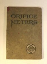 1931 Orifice Meters, Gas, Air, Steam, Oil & Water, American Meter Works Erie, PA
