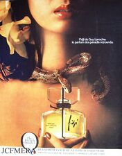 Guy Laroche 'FIDJI' Perfume Advert - Original 1981 Cosmetics Print AD
