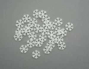 30 Felt White Christmas Snowflakes  Shapes
