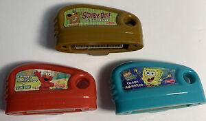 Fisher Price Smart Cycle Video Game Cartridges Lot Of 3 Spongebob Scooby Doo