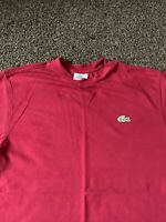 Mens Lacoste Sport Red T-shirt Size 2(XS) See Description For Information