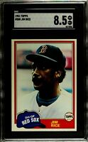1981 Topps #500 JIM RICE Boston Red Sox SGC 8.5 NM/MT+