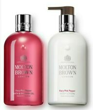 Molton Brown Fiery Pink Pepper Bath And Shower Gel & Body Lotion 300ml