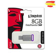 PENDRIVE KINGSTON 8GB DT50/8GB MEMORIA USB 3.0 Y 2.0 8 GB ORIGINAL PEN DRIVE