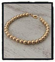 Bracelet Moderne Maille Boules 21CM Plaqué Or 18 carats Bijoux Femme