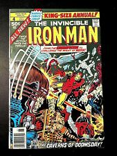 IRON MAN ANNUAL 4 (Marvel 8/77 9.0 non-CGC) NR! MODOK!! BLACK WIDOW! GHOST RIDER