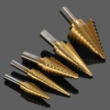 5Pc/set Titanium Coated Step Drill Bit Set unibit sae cone 13 hss multi universa