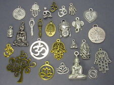 15 Mystical Yoga Charms, Mixed Assorted Meditation Set