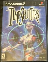TimeSplitters (Sony PlayStation 2, 2000) PS2 Black Label Complete