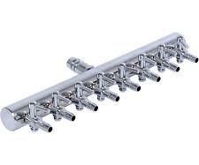 Active Aqua 8 Outlet Metal Air Manifold Adjustable Divider SAVE W/ BAY HYDRO