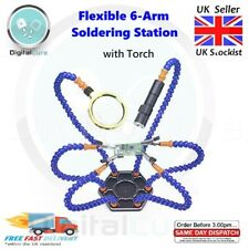 Flexible 6 Arm Helping Third Hands Solder Soldering Swivel Station Tool Torch