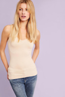 New Anthropologie Eloise Seamless Reversible Tank Top Cami Womens S-L Beige $24