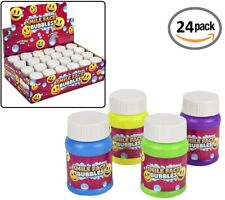24 Smile FACE Bubble Bottles (1OZ Smile FACE Bubbles) Mini